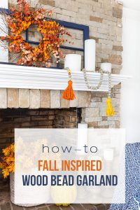 Fall decorated fireplace and mantel