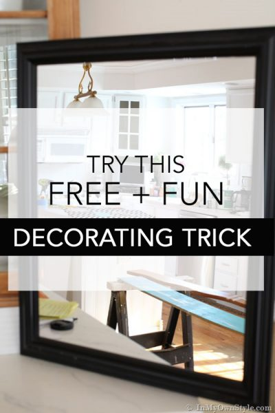 A Home Decorating Trick That is Fun + Free