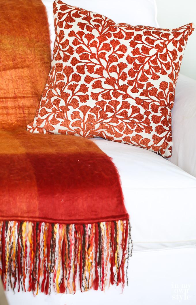 Fall orange and rust decorative accessories