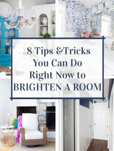 Graphic for Pinterest that says 8-ways-on-how-to-brighten-a-room