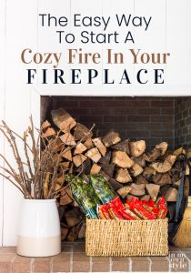 Firewood, Pine Mountain Firelogs, Firestarters needed to start a fire in a fireplace.