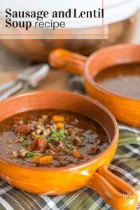 Sausage and Lentil Soup recipe