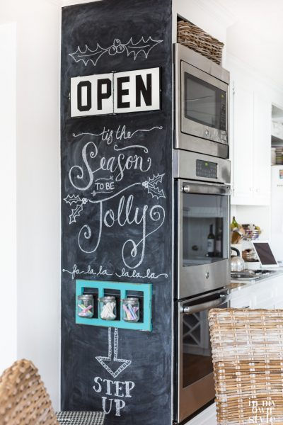 How to create a floor to ceiling chalkboard on a wall