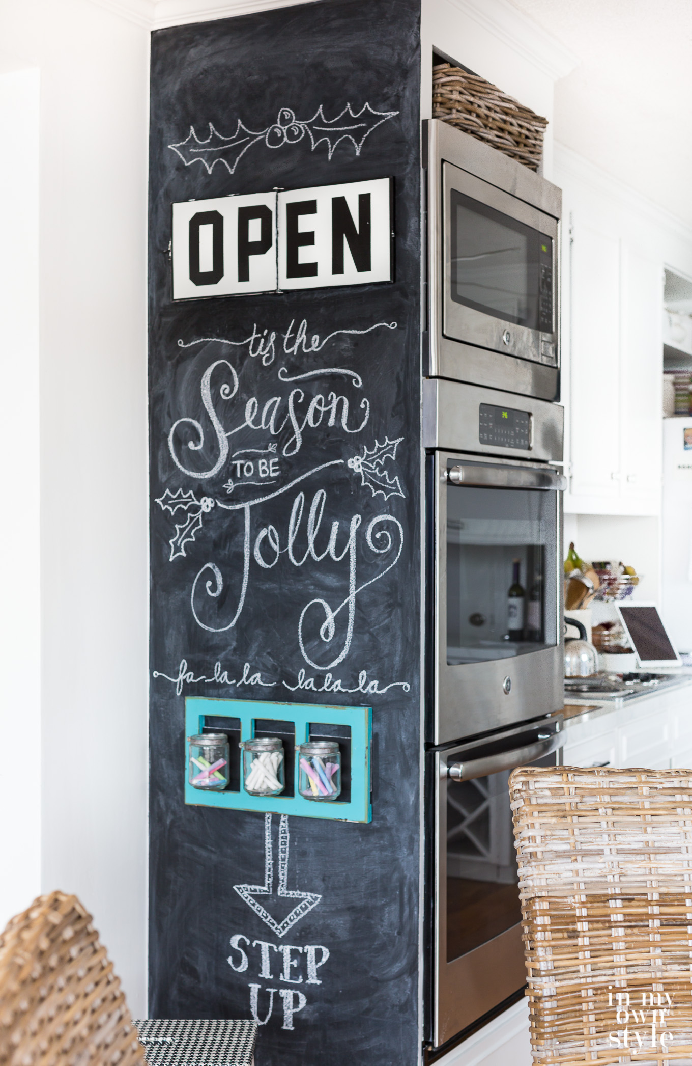 glamorous chalkboard wall kitchen | How to Draw Like an Artist On a Chalkboard | In My Own Style