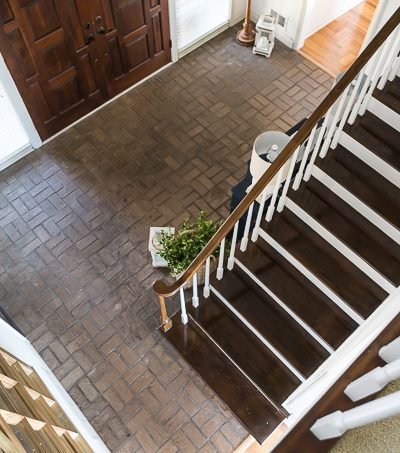 What I'm Planning For the Brick Floor in My Foyer