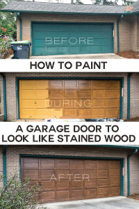 How to paint a garage door to look like stained wood, including woodgrain