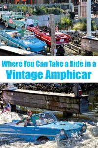 Where you can take a ride in a vintage Amphicar.