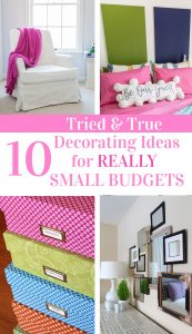 Photo showing ideas that decorators on a small budget can do.