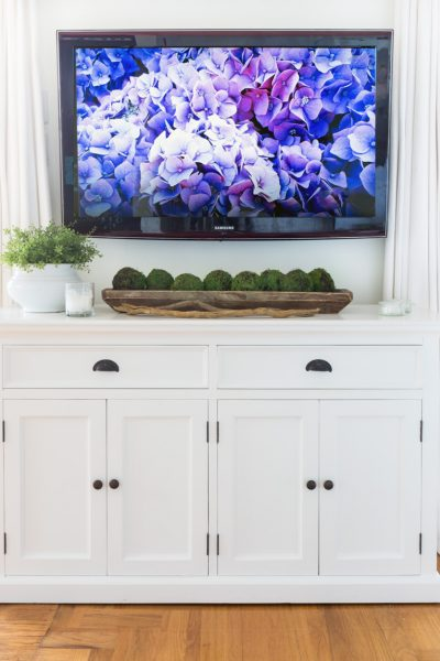 Furniture Tweak For Under a Wall Mounted TV
