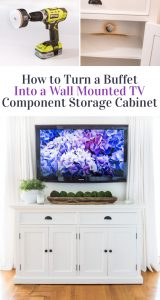 How to turn a piece of furniture into a wall mounted TV component storage cabinet.