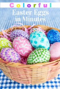 Colorful Easter egg decorating in minutes using Washi tape.