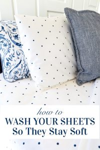 How to wash bed sheets so they always stay soft after washing.