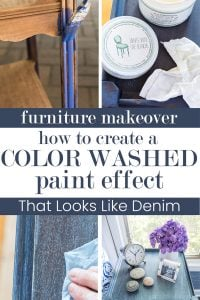 creating a color wash effect on furniture