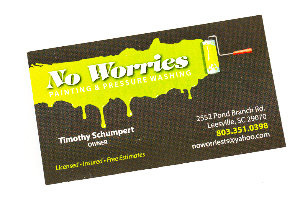 No Worries House Painters in the Columbia SC area