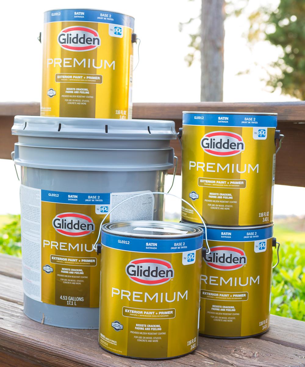 Glidden Premium Exterior Paint and primer