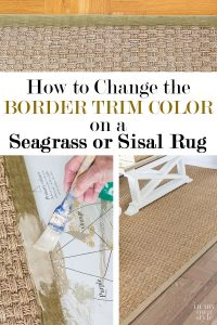 How to paint a seagrass rug tutorial