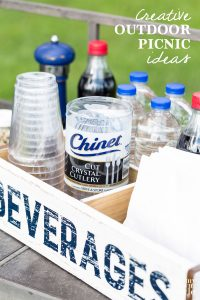 Creative ideas for setting up an outdoor party in a short amount of time and little effort.