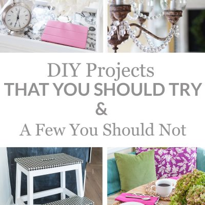 Image with photos showing DIY decorating projects that you should try.
