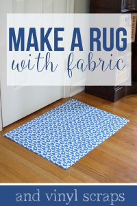 how to make a rug out of fabric and vinyl flooring scraps