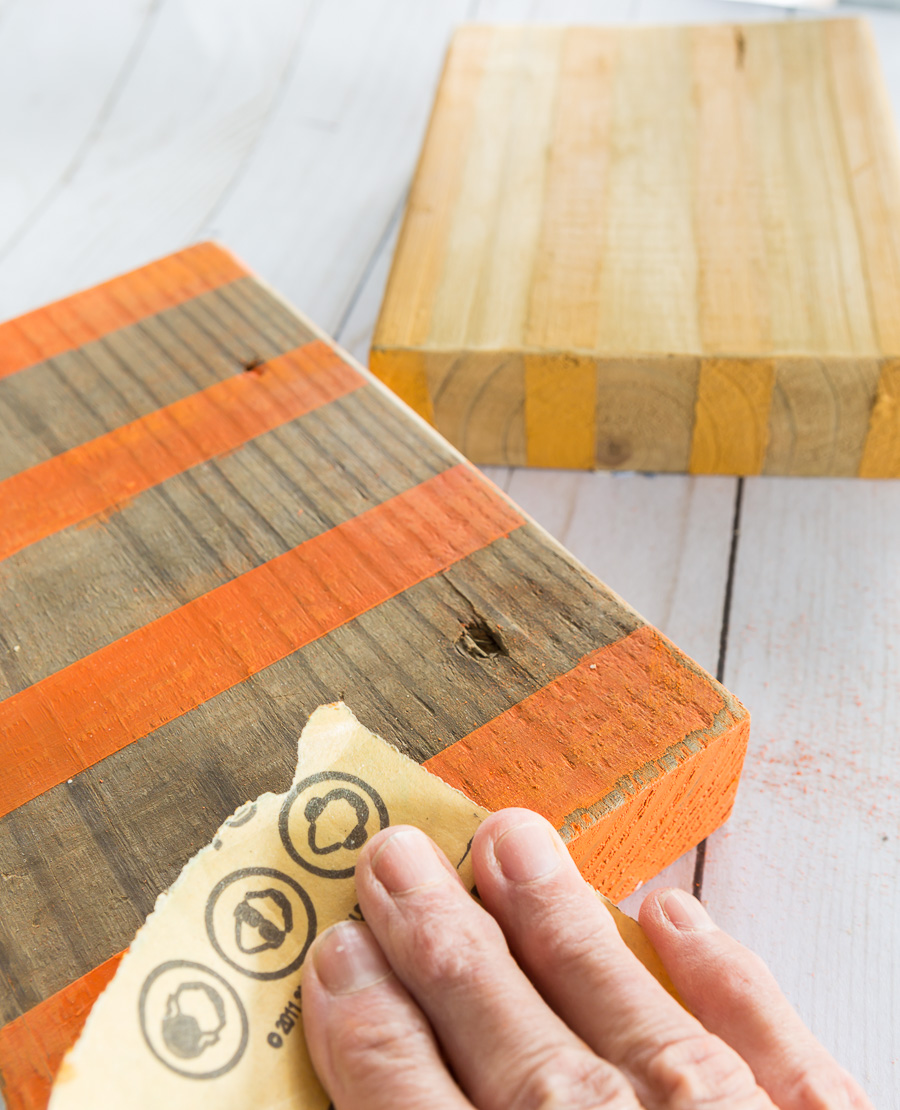 How to age painted and stained surface on wood.