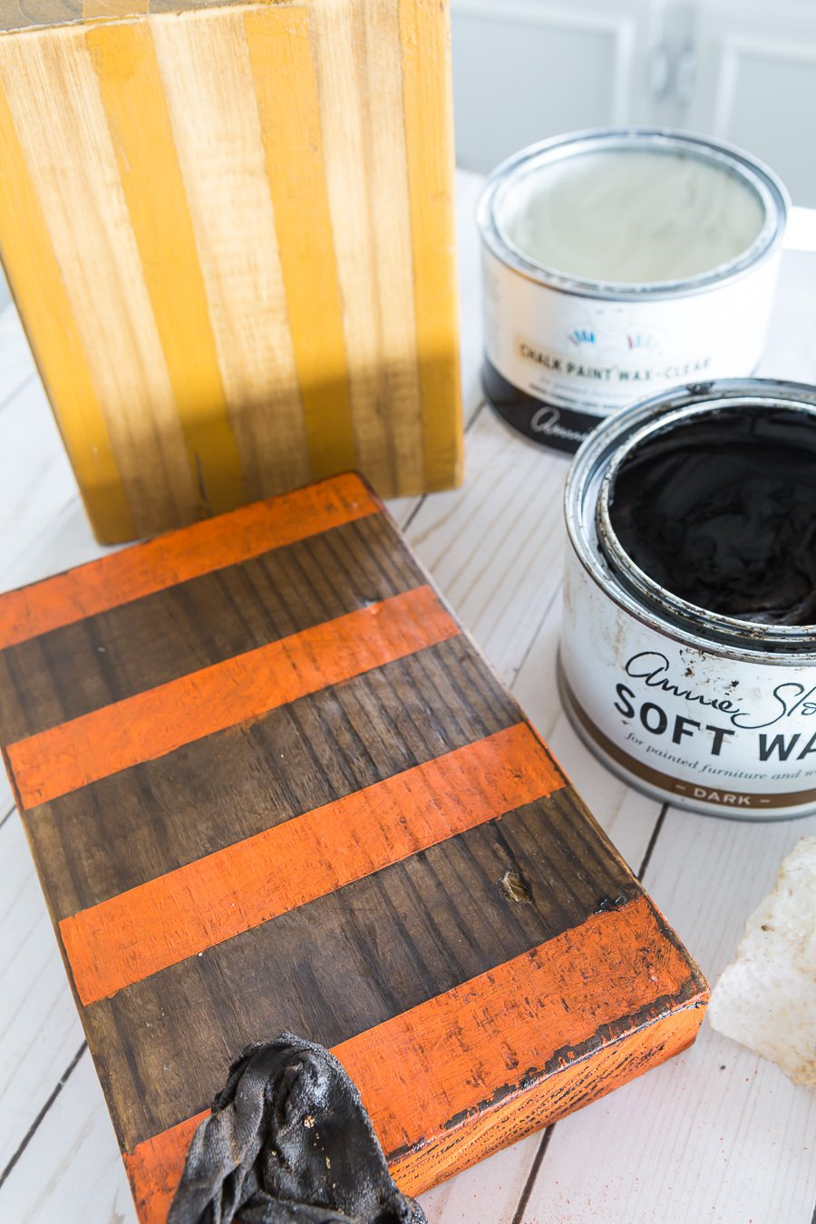 how to add a layer of soft wax to painted and stained wood.