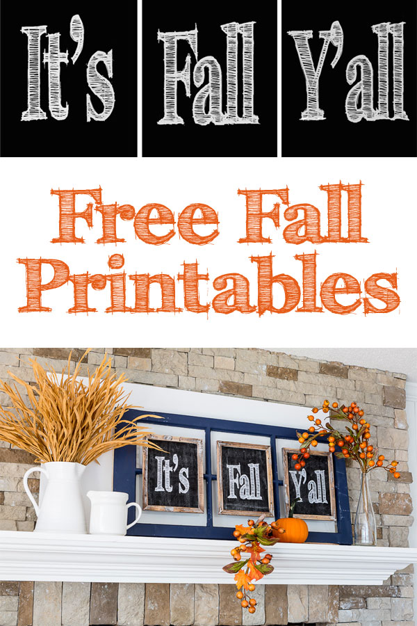 Free Fall Printables that say It's Fall Y'all