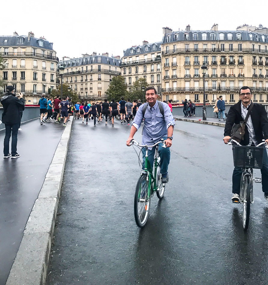 Bike Touring through Paris with All About Tours.