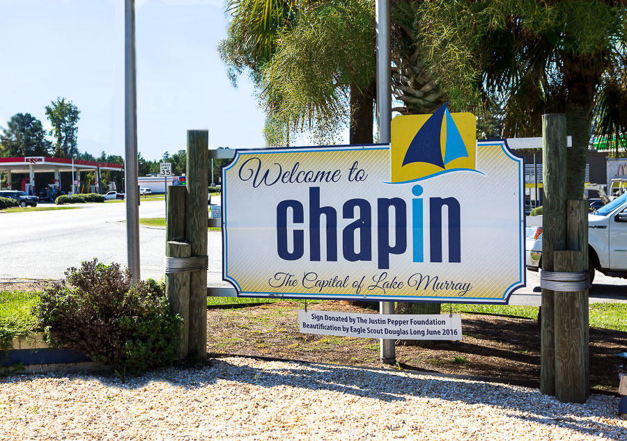 Welcome-to-Chapin-SC-sign
