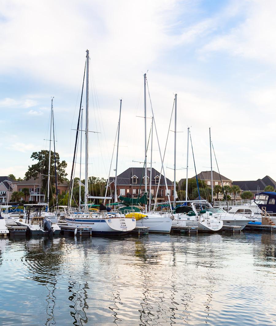 Sail boats on lake murray