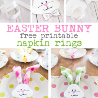 Easter napkin rings to make using a free printable