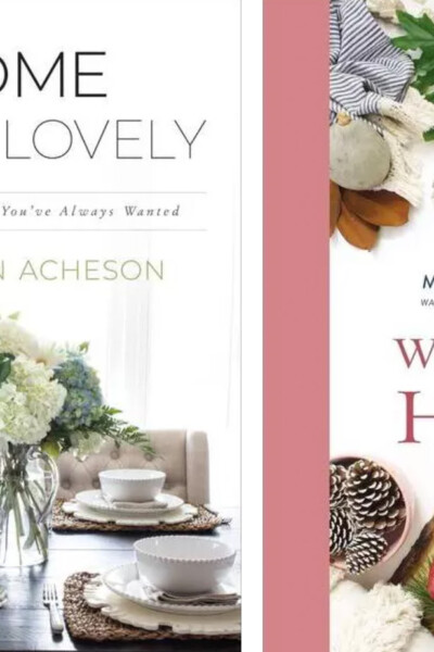 Two decorating books Home Make Lovely and Welcome Home