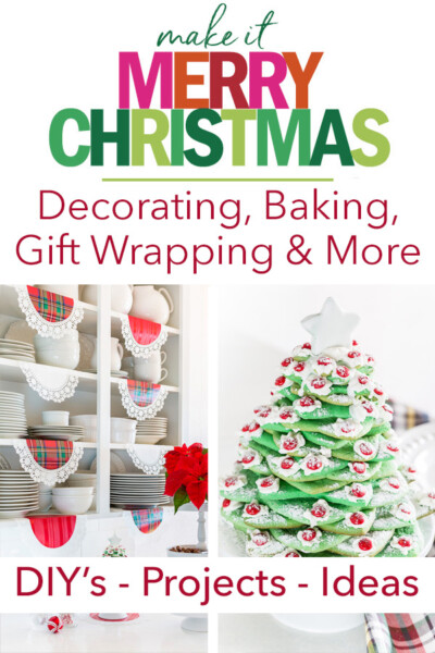Christmas decorating projects and ideas for decorating baking gift wrapping and more.