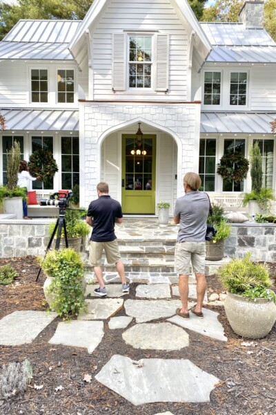 Outside the front of the Southern Living Idea House