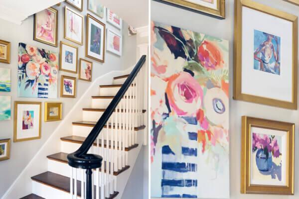 Mandarina Interiors decorated staircase