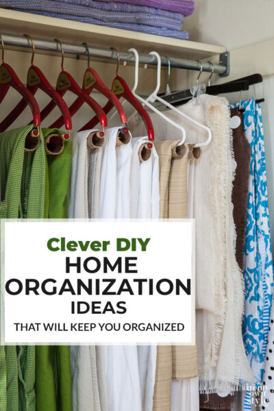 Clever DIY home organization ideas that will keep you organized.