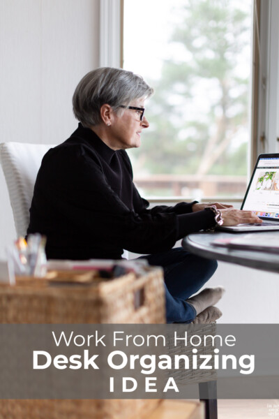 Work from home organizing idea from a blogger.