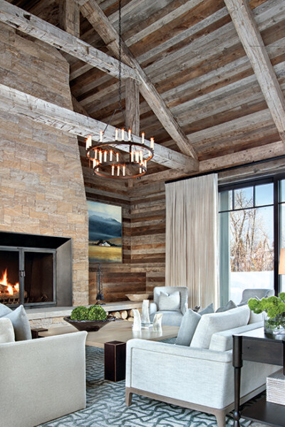 Dreamy living room with rustic appeal.